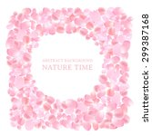 the circle frame with flower... | Shutterstock .eps vector #299387168