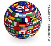 a vector 3d globe composed by... | Shutterstock .eps vector #299389952