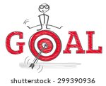 how to reach goals  ... | Shutterstock .eps vector #299390936