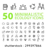 set of 50 quality isolated... | Shutterstock .eps vector #299397866