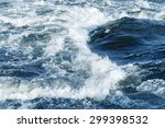 Fast River Water Background...