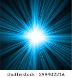 Dark Blue Light Abstract...