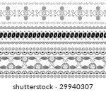 detailed henna borders | Shutterstock .eps vector #29940307