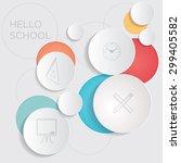 hello school  abstract... | Shutterstock .eps vector #299405582