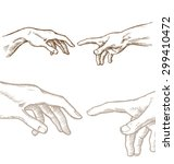 creation of adam hand draw... | Shutterstock .eps vector #299410472