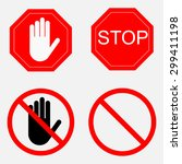 set of road signs  stock image  ... | Shutterstock .eps vector #299411198