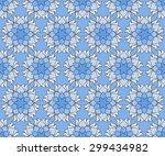 beautiful vector print seamless ... | Shutterstock .eps vector #299434982