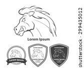 Stock vector horse for logo american football symbol simple illustration sport team emblem design elements 299435012
