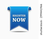 register now blue vector icon... | Shutterstock .eps vector #299441966