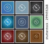compass. icon. vector design   Shutterstock .eps vector #299455268