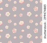 seamless pattern of beautiful... | Shutterstock .eps vector #299474885