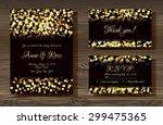 unique vector wedding cards... | Shutterstock .eps vector #299475365