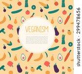 veganism page template. vegan...   Shutterstock .eps vector #299478656