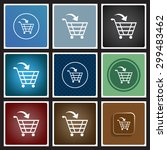 put in shopping cart. icon.... | Shutterstock .eps vector #299483462