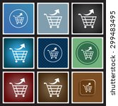 remove from the shopping cart.... | Shutterstock .eps vector #299483495
