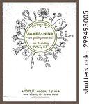 wedding invitation card... | Shutterstock .eps vector #299493005