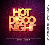 typography disco background.... | Shutterstock .eps vector #299495342