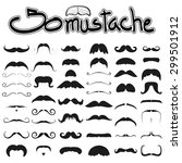 Big Set Of Mustache Vector On...
