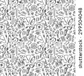 seamless pattern medical icons... | Shutterstock . vector #299504048