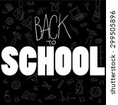 back to school background vector | Shutterstock .eps vector #299505896