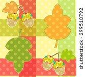 seamless cartoon childish... | Shutterstock . vector #299510792