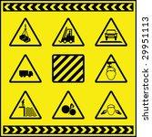 hazard warning signs 1 | Shutterstock .eps vector #29951113