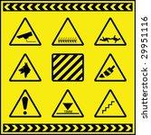 hazard warning signs 2 | Shutterstock .eps vector #29951116