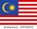 malaysia flag | Shutterstock .eps vector #299520422