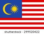 malaysia flag | Shutterstock .eps vector #299520422