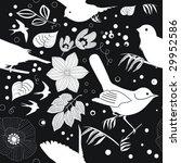 garden retreat seamless pattern ... | Shutterstock .eps vector #29952586