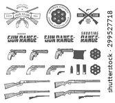 set of retro weapons labels ... | Shutterstock .eps vector #299527718