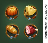 food icons for games. vector...