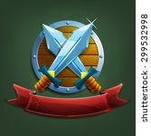 coat of arms with swords and... | Shutterstock .eps vector #299532998