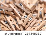 Stock photo clothes pins 299545382