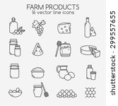 farm icon set  simple and thin... | Shutterstock .eps vector #299557655