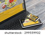 responsive web design on mobile ... | Shutterstock . vector #299559932