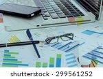 business of financial analytics ... | Shutterstock . vector #299561252