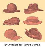 Hats And Caps. Design Set 2....