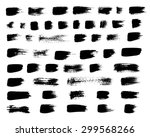 vector set of grunge brush... | Shutterstock .eps vector #299568266