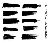 vector set of grunge brush... | Shutterstock .eps vector #299568278