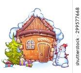 vector illustration of winter... | Shutterstock .eps vector #299577668