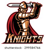 knight mascot with sword | Shutterstock .eps vector #299584766