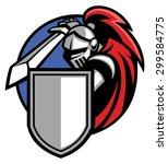 knight mascot | Shutterstock .eps vector #299584775