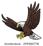 flying eagle mascot | Shutterstock .eps vector #299584778