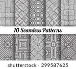 set of 10 abstract patterns.... | Shutterstock .eps vector #299587625