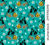 stylized seamless pattern with... | Shutterstock . vector #299598398