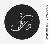 escalator line icon   Shutterstock .eps vector #299600972