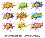 set of exclamating words on... | Shutterstock .eps vector #299609582