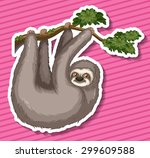 Sticker Of A Monkey Swinging O...