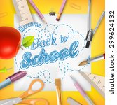 school season invitation... | Shutterstock .eps vector #299624132